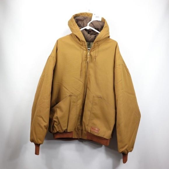 25f158f5064b6 Walls Jackets & Coats | Vintage New Master Made Hooded Work Jacket ...